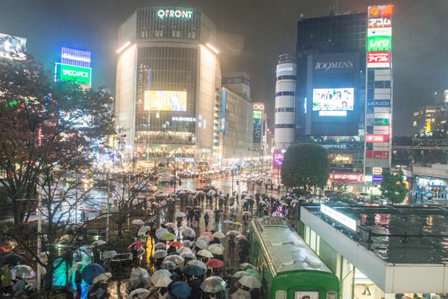 Rain in Tokyo