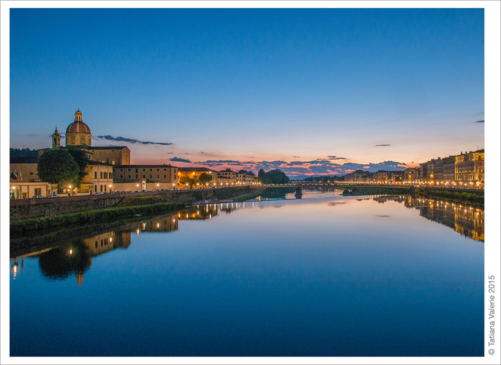 Florence, Italy. Sunset
