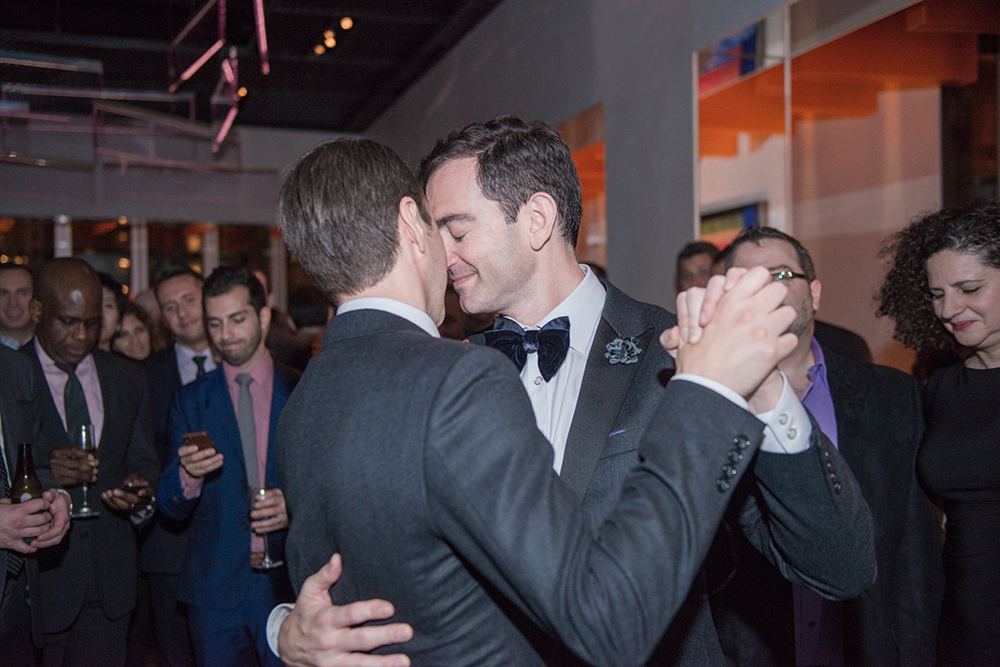 Same-sex wedding at Museum of Art and Design, New York