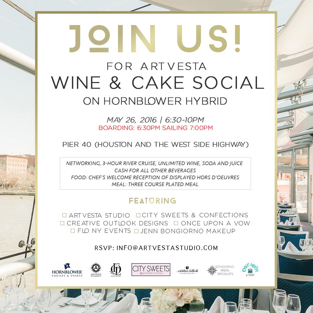 Artvesta Wine & Cake Social Invitation 05/26/2016