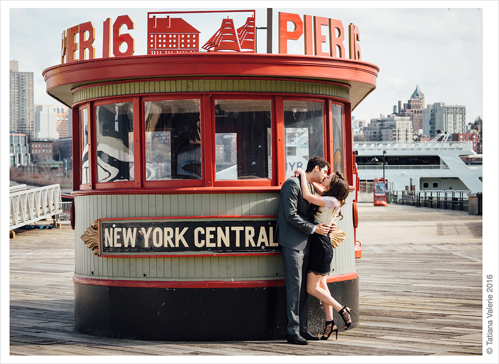 Amber and David's Engagement Photoshoot at South Street Seaport NYC