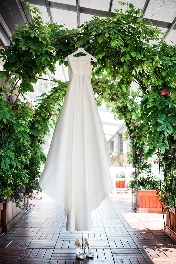 Wedding dress at Midtown Loft & Terrace