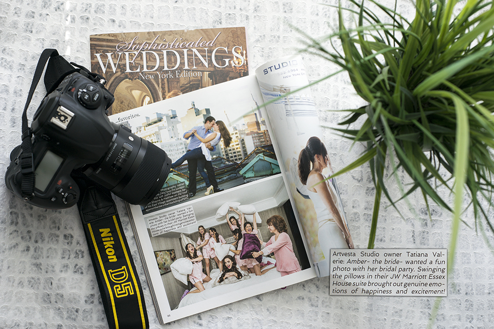 Tatiana Valerie at Artvesta Studio is featured in Sophisticated Weddings magazine 2016