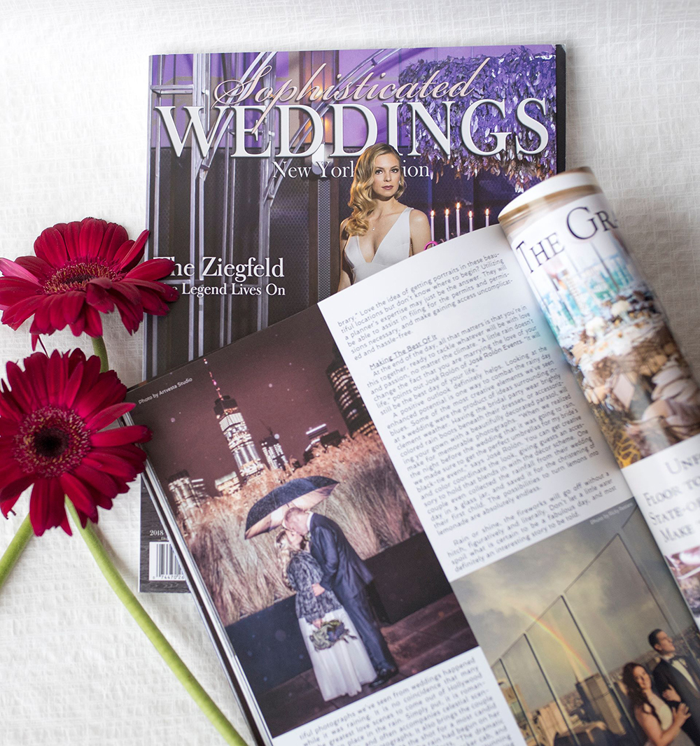 Tatiana Valerie's photography is featured in Sophisticated Weddings 2018 issue