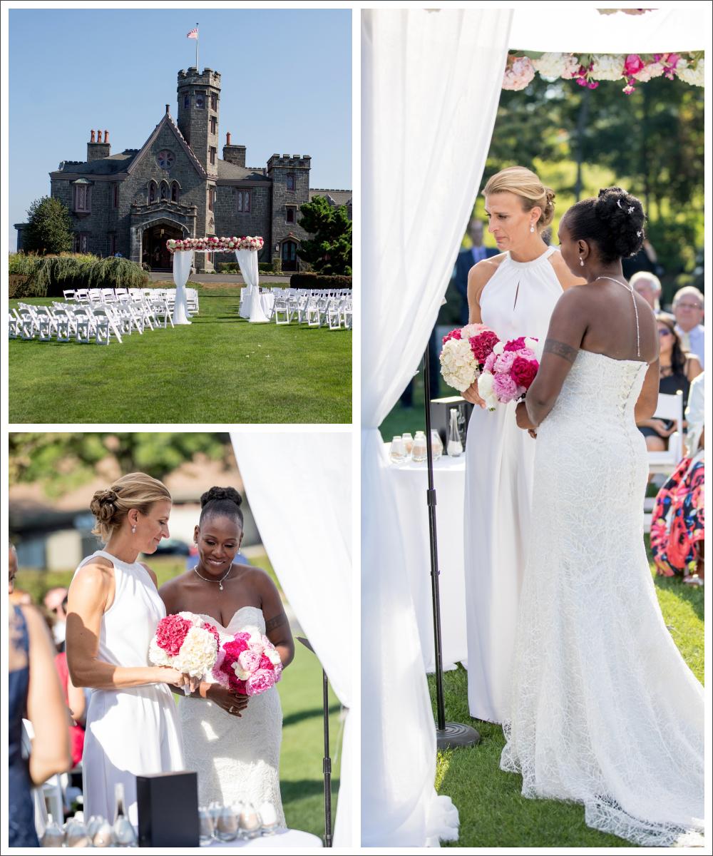 Liz & Keisha's romantic wedding at Whitby Castle, Rye, NY